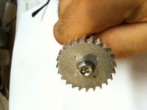 rotore lavorato al tornio